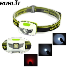 High quality 300 Lumens Headlight 4 Modes 2 Red LED+1 White LED tail light Waterproof Head light led Headlamp by 3*AAA.