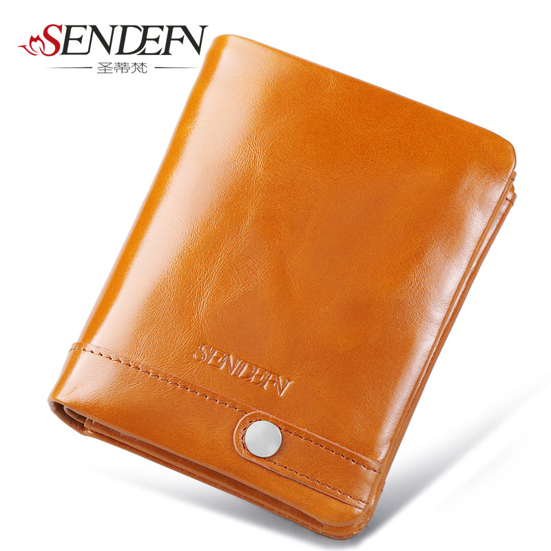 SENDEFN Brand Women Small Wallets Genuine Leather Womens Purse Vintage Style Hasp Women Wallet Fashion Cardbag<br>
