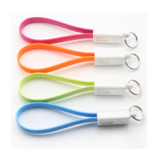 Portable Key Chain Key Ring Micro USB Charger Cable Cord(China)