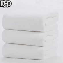 DHD 2017 New Cotton Simple Solid White Towel for Hotel SPA Bathroom Beach Terry Bath Towels Beach Towel 70*140cm Soft Bath Towel