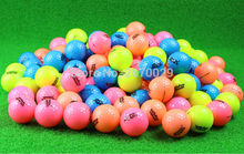 Golf ball Golf Game Ball two Layers High-Grade Golf Ball 4 Color to choose Distribution Golf Ball Holder free shipping