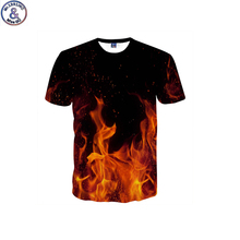 Buy Mr.1991 brand funny design Red flame 3D printed t-shirt boy 2018 arrive short sleeve kids t shirt teenage tops DK5 for $9.95 in AliExpress store