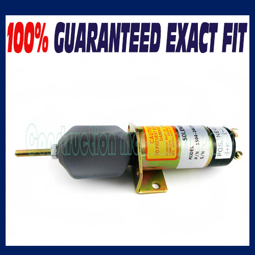 1504-24C2U1B1S1 1500-2057 Fuel Shutoff Solenoid for Kubota DF-750, 24V<br>