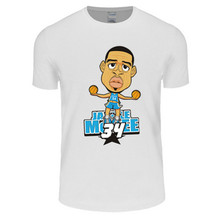 Loose cotton code Q cartoon version of basket ball star Javier Mcgee T-shirt male basket ball summer T-shirt