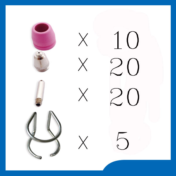 FREE SHIPPING welding accessories WSD-60P P60 Plasma Consumables KIT Nozzles 0.9 40Amp Plasma Nozzles TIPS ,55pcs<br>