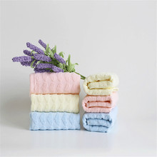 Solid Color Face Towel Heart Pattern Pink Blue Yellow 100% Cotton High Quality Towels Wholesale Price Christmas Gifts TW112(China)