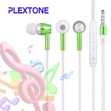 Promoting Metal In Ear Luminous Earphone light glow Heavy Bass Music Phone Earphone With microphone for iPhone Samsung 6 color(China)