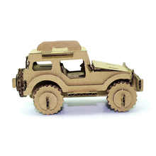 3d Puzzle Car Toys Jeep Army Military Style Model Cardboard Craft DIY Cool Adults Kids Boys Room Decoration Creative Gift(China)