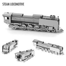 BABELEMI Metallic Nano Puzzle Simulation Miniature Scale DIY 3D Model Steam Locomotive Children Kids Educational Toys