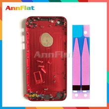 "Red Black Silver Gold Rose 4.7"" For Iphone 6 6G Chassis Middle Frame Metal Alloy Housing Back Battery Cover + Battery stickers"