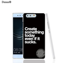 Desxz 16684 Famous Article Beautiful Letters cell phone Cover Case for huawei Ascend P7 P8 P9 lite Maimang G8(China)