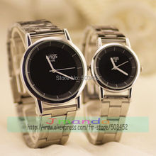 100pcs/lot Silver Colors Watch For Couple Kings Brand Casual Steel Watch Wrap Dress Clock For Christmas Day Designer Watch(China)
