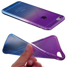 Popular Rubber Transparent Rainbow Case For iphone 7 Cover Silicone TPU Soft Cover For iphone7 SE 5 5s 6 6s Plus Phone Cases