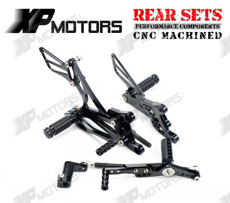 CNC  Foot pegs Adjustable Rear Sets For Yamaha YZF-R1 YZF-R1 LE 2007 2008 Black<br><br>Aliexpress