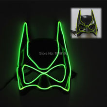 By 3V Steady On Driver Halloween Festival Glowing Party Carnival 5 colors Select glowing neon Orange LED Mask EL wire Masks