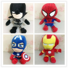 1pc Anime Marvel Avengers Plush Doll Toys Ironman Captain America Spiderman Superman Soft Plush doll boy children gifts(China)