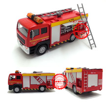 Free Shipping brand love 119 fire truck brand toys back of the car light alloy models(China)