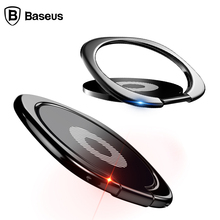 Baseus Universal Mobile Phone Holder 360 Degree Rotation Finger Ring Holder Magnetic Car Bracket Stand Mobile Phone Accessories(China)