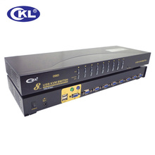 CKL-9138U 8 Port USB VGA KVM Switch 8 in 1 out VGA Switch Box   with  8 set VGA Cables Switcher for Keyboard Video Mouse