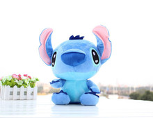Hot 18cm cute Stitch Plush Toys Soft Stuffed Animals Doll Stich Plush Kids Toys(China)
