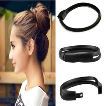 Women French Styling Hair DIY Tool Donut Bun Clip Twist Maker Holder Hair Sticks(China)