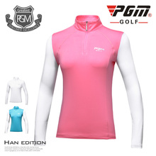 2017 autumn PGM golf carts ladies hoses Sun protection clothing silk long sleeves high-end Slim clothing breathable perspiration