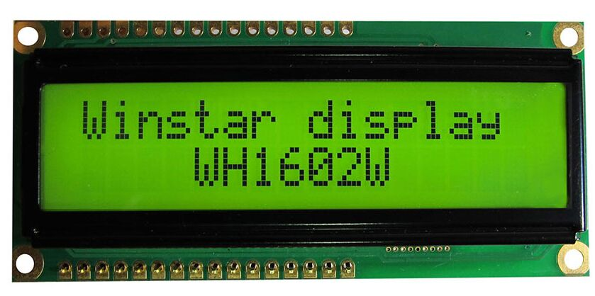 WH1602W WINSTAR 16*2 LCD 5V Module screen green backlight new and original<br>