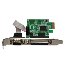 RS232 RS-232 Serial Port COM & DB25 Printer Parallel Port LPT to PCI-E PCI Express Card Adapter Converter WCH Chip