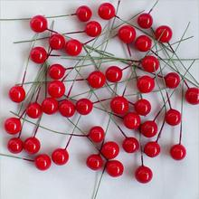 200 pcs Imitation foam berry cherry small red fruit peony fruit Christmas products accessories