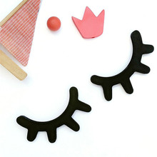 Nordic style Birthday Party Decor Kids Eyelash Wooden Coat Hooks Lovely Wall DIY Decorations Clothing Hanger Hook Best Gifts