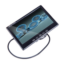 "7"" TFT LCD Car Monitor Auto TV Car rear view camera with mirror monitor Parking Assistance Backup Reverse Monitor Car DVD Screen(China)"