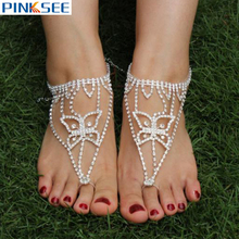 Buy crystal barefoot sandals and get free shipping on AliExpress.com 250bd468c058