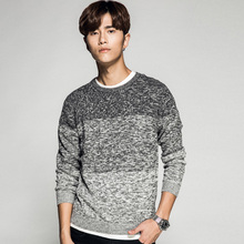 quovadis2017 new Men's winter sweater o-neck grey vintage fashion pullover agasalho masculino pull homme 801(China)