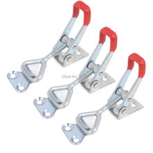 3 Pcs Lever Door Button Type Metal U Nonslip Handle Triangle Shaped Lever Latch 100Kg 220Lbs Holding Capacity Toggle Clamp 4001