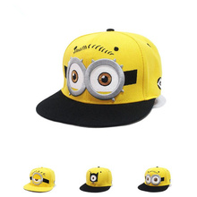 Parenting Children Baseball Caps Cartoon Character Design Minions Boys Girls Snapback Caps Adjustable kid Hats Flat Hip Hop Caps(China)
