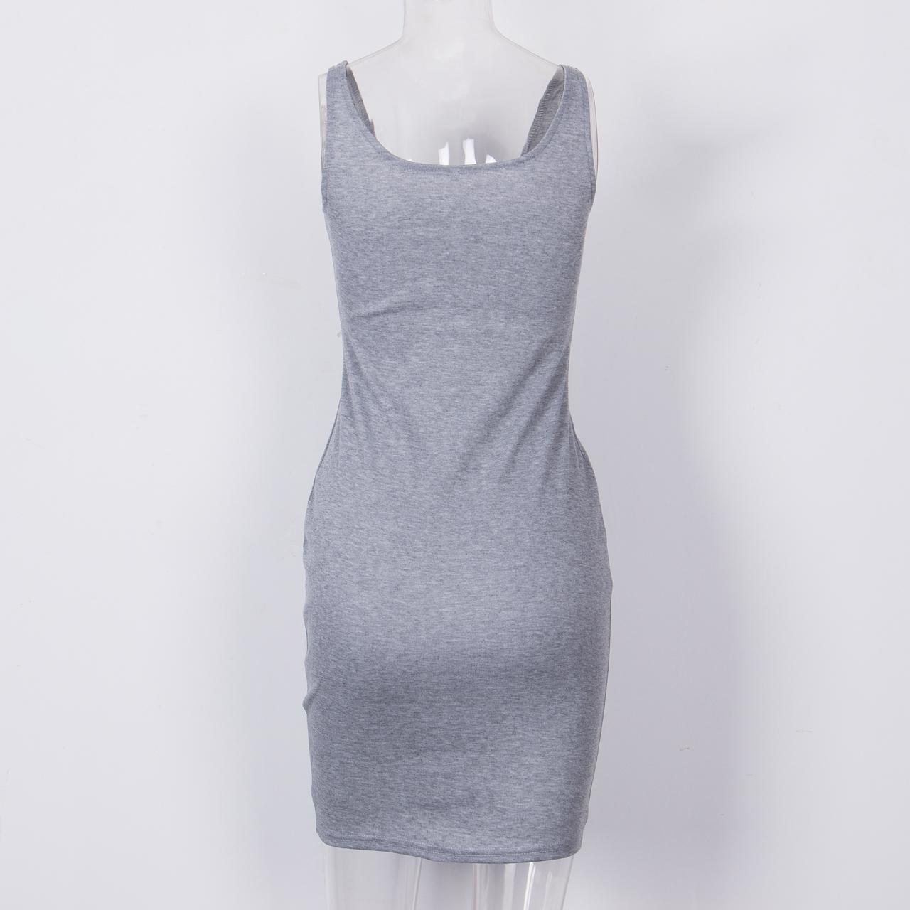 Swaggy HTB1ty8LMgDqK1RjSZSyq6yxEVXah Graues ärmelloses Kleid