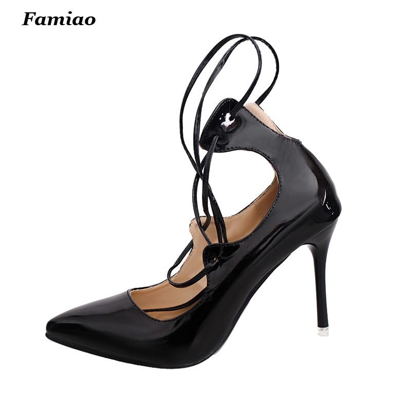 designer shoes women 2017 Fashion Accross Ankle Strap Ultra High Heels 9.5CM Women Pumps Dress Wedding Shoes<br><br>Aliexpress