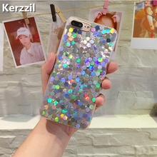 Buy Kerzzil Laser Sequins Bling Glitter Geometry Phone Cases iPhone 7 6 6S Plus Shining Back Cover iPhone X 6 6S 8 Plus Capa for $2.19 in AliExpress store