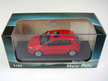 Red 1:43 Volkswagen VW New POLO Alloy Model Diecast Show Car Classic toys Scale Models
