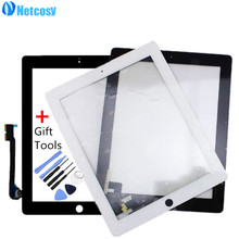 Netcosy Touch Screen Digitizer Front Touch Panel Glass for iPad 2/3/4 TouchScreen Replacement Part TP + Tool Accessories
