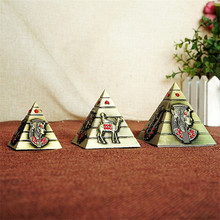 Egyptian Pyramid Alloy Pattern Home Decoration Ornaments Office Accessories Living Room Decoration