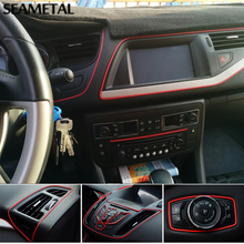 5M Universal Car Styling Flexible Interior Internal Decoration Moulding Trim Decorative Strips Line DIY Stickers Car-Styling(China)