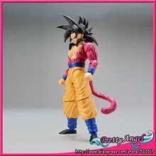 Anime Original Bandai Tamashii Nations Figure-rise Standard Dragon Ball GT Toy Figure - Super Saiyan 4 Son Goku Plastic Model