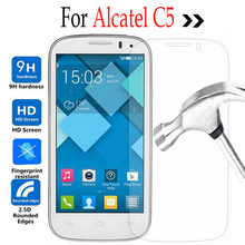 Tempered Glass For ALCATEL One Touch Pop C5 4.5inch Screen Protector Film With Cleaning Tool For Onetouch C5 5036 OT5036 5036D
