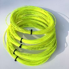 Wholesales 40pcs Taiwan neon yellow tennis strings High quality 12m tennis string 1.30mm