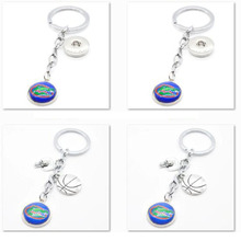 2017 New Basketball Keychain NCAA Florida Gators Charm Key Chain Car Keyring for Women Men Party Birthday Keyrings Gifts