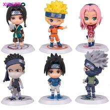 XIESPT 6pcs/set Anime Naruto PVC Action Figure Toys Q version Figurine Model Set - FIVE STARS TOY Store store