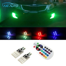 For Kia Rio K2 Ceed Sportage Sorento Cerato Picanto K3 Optima SMD 5050 RGB T10 194 168 W5W Car LED Clearance Bulbs Parking Light