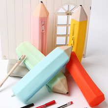 1PC Creative Office School Stationery Pencil Case Pencil Shape Candy Colors 6 Colors Available Multifunctional Pen Bag