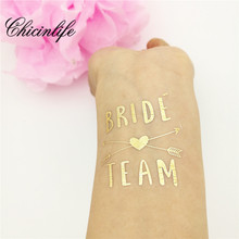 1Pcs Bride Team Temporary Tattoo Bachelorette Party Favor hen party bride Flash Tattoos Bridesmaid gift bridal wedding decor